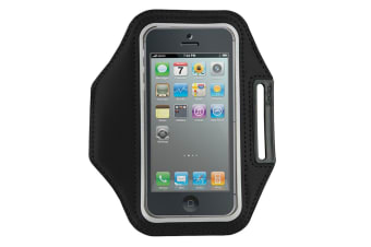 Gecko Sports Outdoor Run Armband For iPhone 4/4S/5/5S/5C & iPod Touch Black/Grey