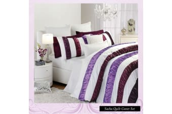 Sacha White Quilt Cover Set KING by Logan and Mason