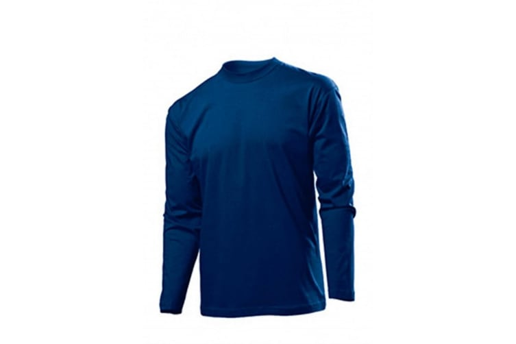 Stedman Mens Classic Long Sleeved Tee (Blue Midnight) (S)