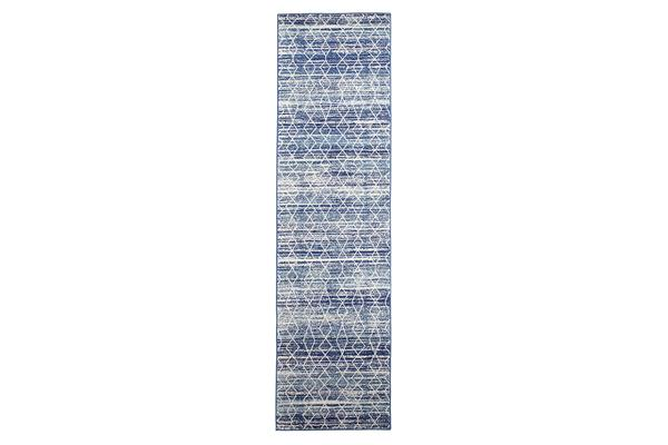Culture Blue Transitional Rug 400x80cm