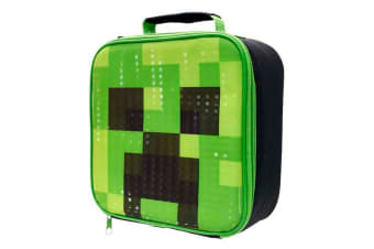 Minecraft Cubic Lunch Bag (Green)