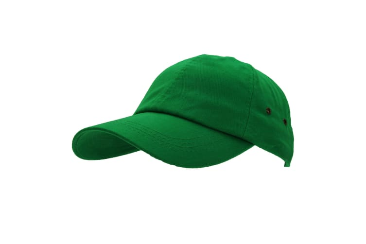Result Unisex 100% Plush Finish Baseball Cap (Pack of 2) (Bottle Green) (One Size)