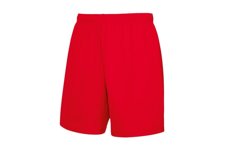 Fruit Of The Loom Mens Moisture Wicking Sports Performance Shorts (Red) (2XL)