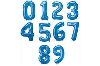 Amscan Supershape Blue Number Balloons (Blue) (7)