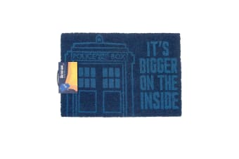 Doctor Who Official Bigger On The Inside Door Mat (Blue) (60 x 40cm)