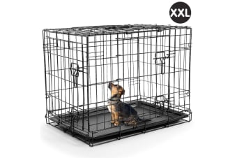 Foldable Steel  Pet Cage Crate Kennel House - 48in
