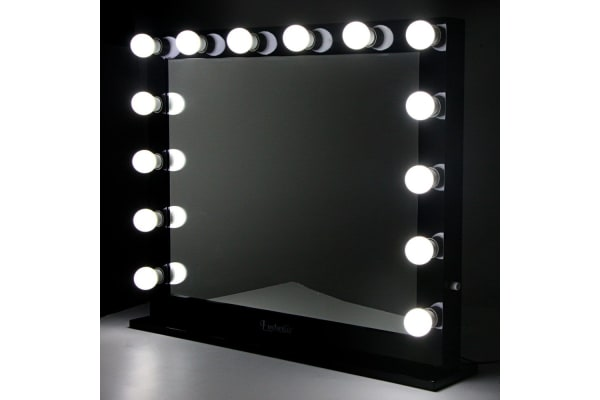 Make Up Mirror Frame With Led Lights 65x80cm Black Kogancom