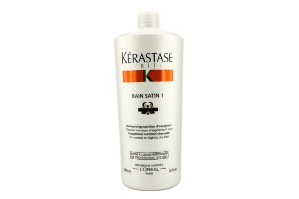 Kerastase Nutritive Bain Satin 1 Exceptional Nutrition Shampoo (For Normal to Slightly Dry Hair) (1000ml/34oz)