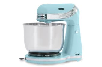 TODO 6 Speed Electric Stand Mixer Stainless Steel Bowl Retro Serenity Blue Xj-13406