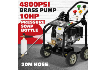 10HP 4800PSI High Pressure Washer Water Cleaner Gurney Pressure Hose Pump