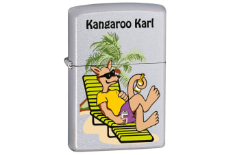 Zippo Kangaroo Karl Lounge Genuine Satin Chrome Finish Cigar Cigarette Lighter