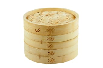 Davis And Waddell Asia One 2 Tier Bamboo Steamer 20cm