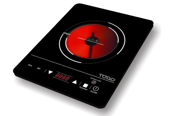 TODO 2000W Hotplate Infrared Cooker Toughened Glass Cooktop Touch Control Led