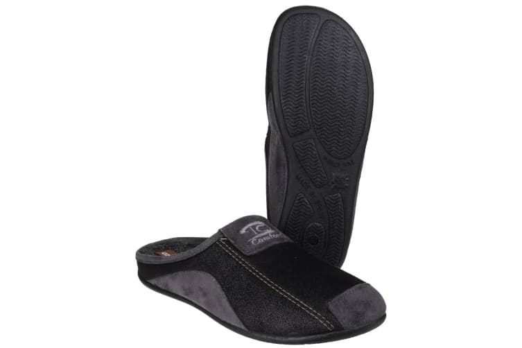 Cotswold Mens Westwell Slip On Mule Slippers (Black) (7 UK)