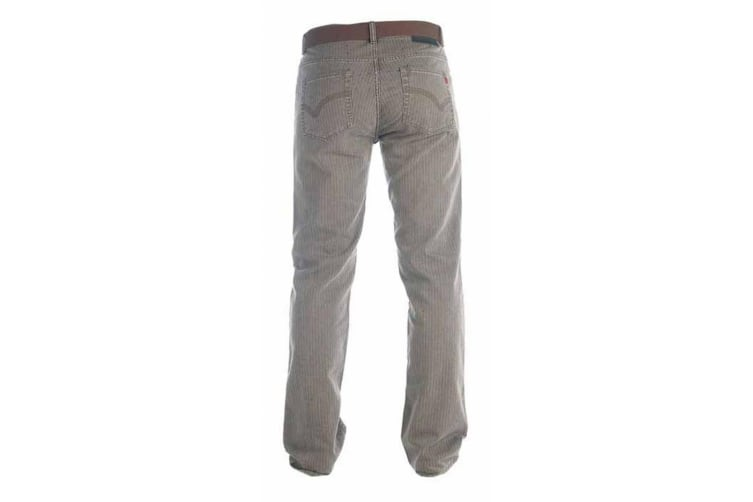 Duke London Mens Brian Bedford Cord Trousers With Belt (Brown) (34S)