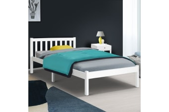 Artiss King Single Wooden Bed FrameTimber Mattress Size Base Bedroom
