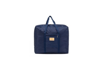 Waterproof Foldable Traveling Bag With Large Capacity Finishing Bag - Navy Dots Blue L