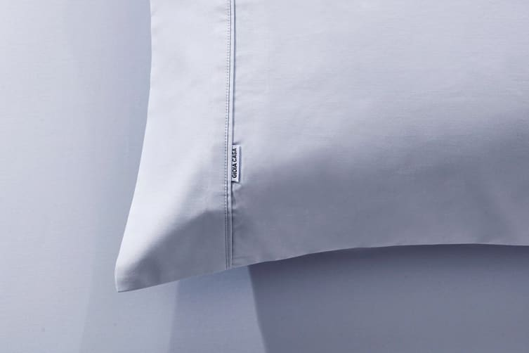 Gioia Casa 400TC Bamboo Cotton Fitted Sheet Combo (Silver, Queen)