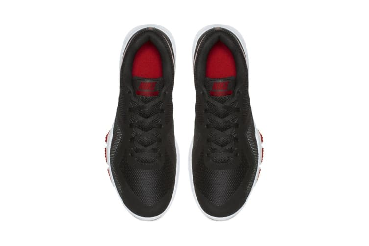 Nike Men's Flex Control II Shoes (Black/Gym Red/White, Size 9 US)