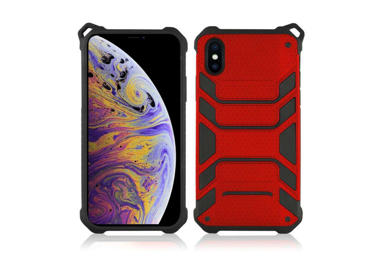 For iPhone XS Max Cover Shockproof Dustproof Strong Armour Mobile Phone Case Red