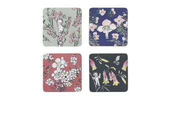 Ecology May Gibbs Coasters Set of 4 Flower Babies