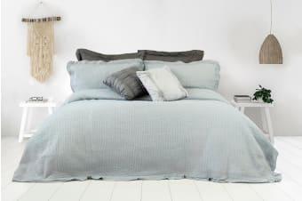 Ardor Flinders Washed Cotton Coverlet Set (Grey)