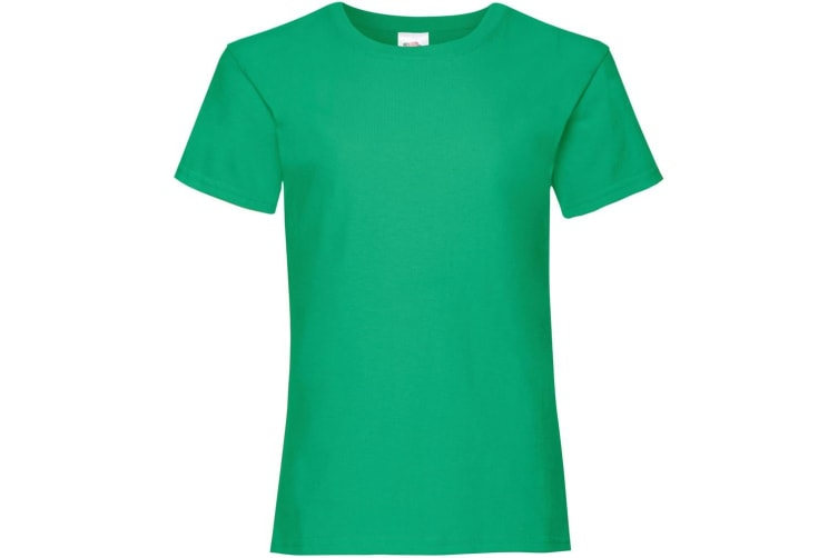 Fruit Of The Loom Girls Childrens Valueweight Short Sleeve T-Shirt (Kelly Green) (14-15)