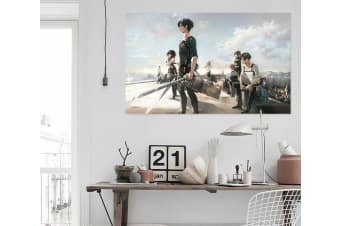 3D Attack On Titan 634 Anime Wall Stickers Self-adhesive Vinyl, 100cm x 60cm(39.3'' x 23.6'') (WxH)