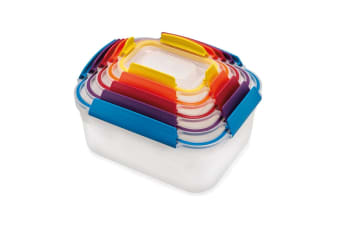 5pc Joseph Joseph Nest Lock Storage Food Container Lunch Box Set Multicoloured
