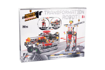 Construct It Mechanical Building Kit - Transforming Tank and Robot