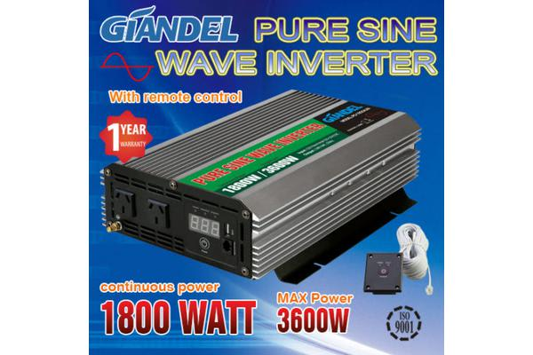 Image of 1800W Overload Protection Pure Sine Wave Inverter