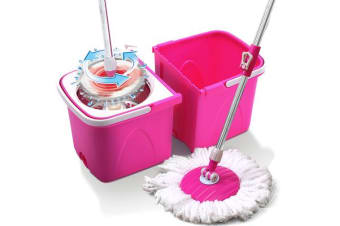 360 degree Spin Rotating Mops & Wheeled Bucket Set