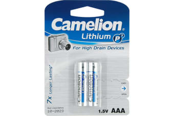 AAA Lithium Battery - 2 Pack Camelion