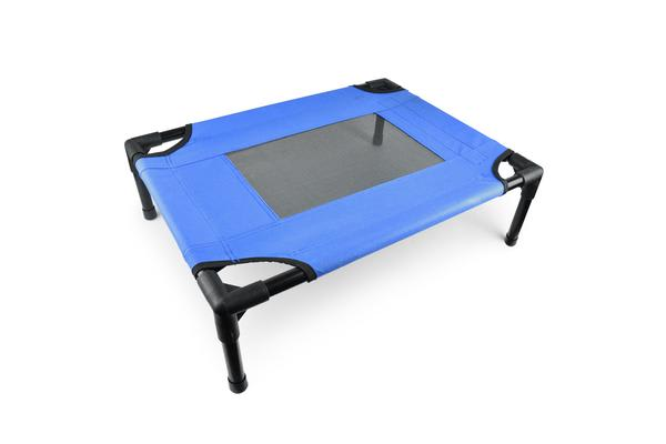 Heavy Duty Pet Dog Bed Trampoline Hammock Canvas Cat Puppy Cover Blue M