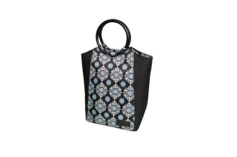 Sachi Style 229 Insulated Lunch Bag Black Medallion
