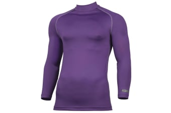Rhino Mens Thermal Underwear Long Sleeve Base Layer Vest Top (Purple) (2XL)