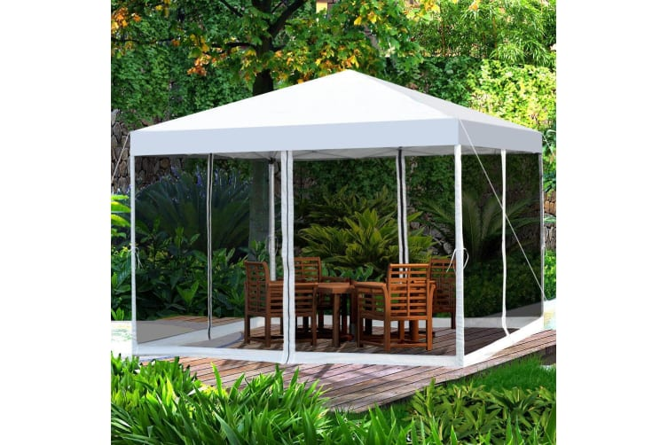 Easy Pop Up Canopy Tent Gazebo Mesh Side Wall Screen House Carry Bag 3 Colours
