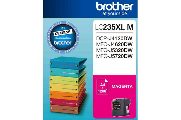 Brother LC-235XL Magenta Ink 1200 Page, J4120/4620/5720DW