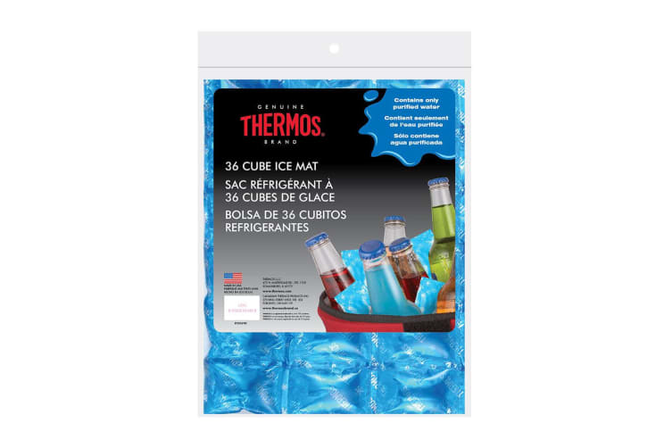 6PK Thermos 36 Cube Ice Mat Reusable Chillers Coolers f  Beers Champagne Blue