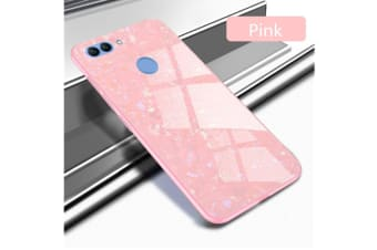 Shiny Seashell Pattern Tempered Glass Hard Back Cover Shell For Huawei Pink Honor10