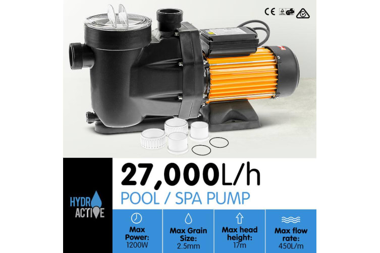 HydroActive Swimming Pool Water Pump - 1200W