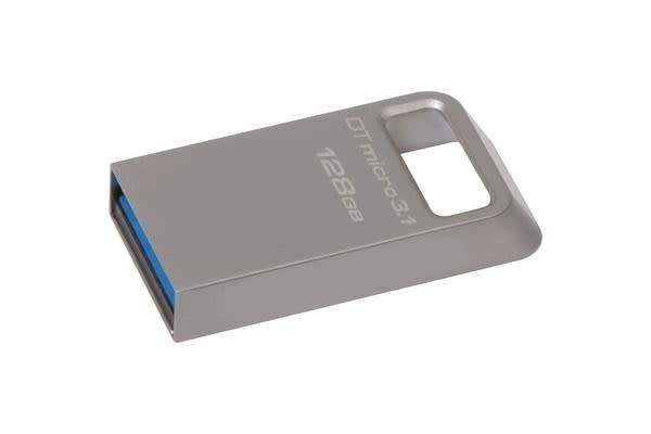 Kingston 128GB DTMicro USB 3.1/3.0 Type-A metal ultra-compact drive