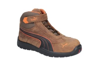 Puma Safety Mens Indy Mid Touch Fastening Safety Boot (Brown)