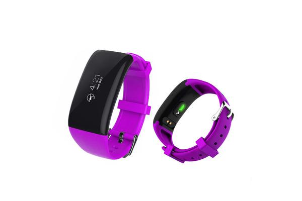Smart Watch Fitness Tracker Heart Rate Bpm Android Ios App Purple