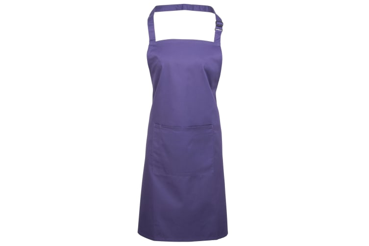 Premier Ladies/Womens Colours Bip Apron With Pocket / Workwear (Purple) (One Size)