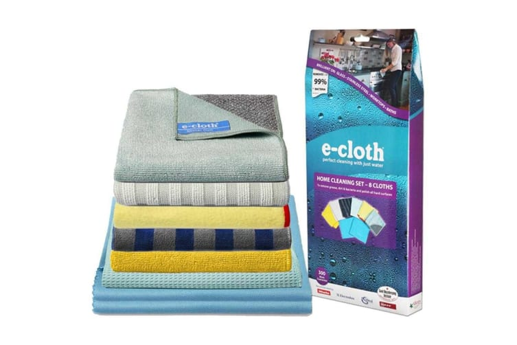 E-Cloth 8pc Home Cleaning Set