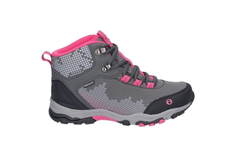 Cotswold Childrens/Kids Ducklington Lace Up Hiking Boots (Grey/Pink) (4 UK)
