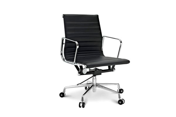 eames reproduction office chair. Ergolux Executive Eames Replica Low Back Ribbed Office Chair (Black) Reproduction P