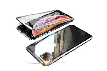 Select Mall 360 Degree Transparent Tempered Glass Cover Strong Magnetic Adsorption Technology Metal Bumper for iPhone-XSmax