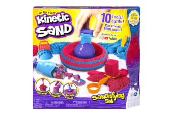Kinetic Sandisfying Sand Art Set w/ Shaper/Slicer/Scooper/Stacker Kids Toys 3y+